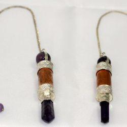 Copper with Amethyst Pendulum