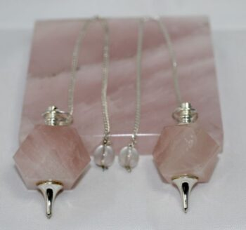 Hexagon Rose Quartz Pendulum