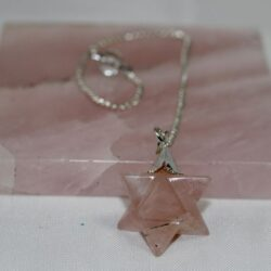 Merkeba Rose Quartz Pendulum