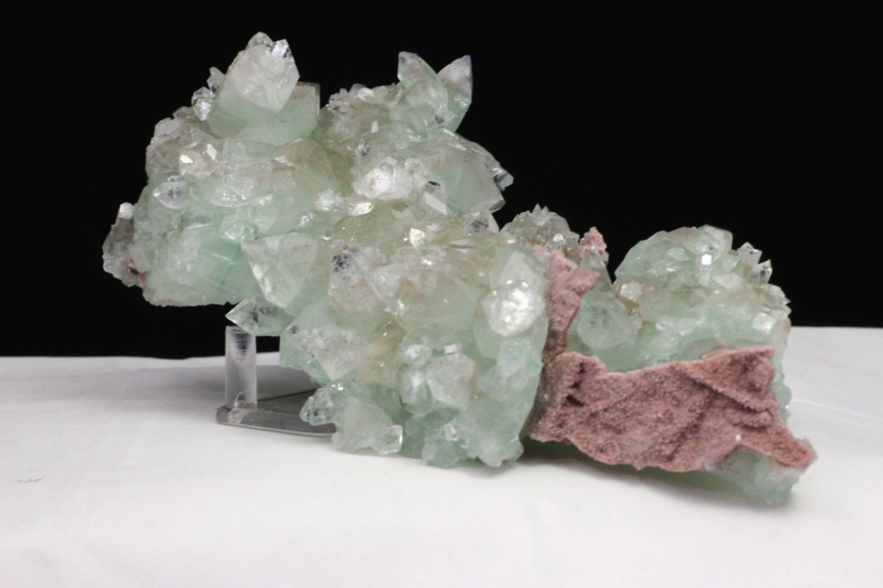 Green Apophyllite & Pink Chalcedony,Apophyllite, Stilbite, Green Apophyllite, Pink Chalcedony, Matrix, Zeolite, Minerals, Natural Stone, Rock, Natural Crystal, Collectible, India, Earth,