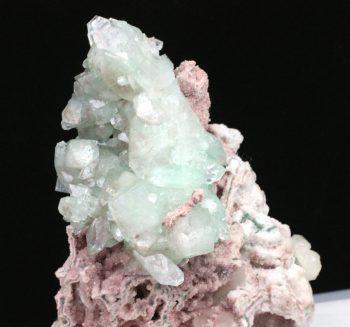 Green Apophyllite & Pink Chalcedony