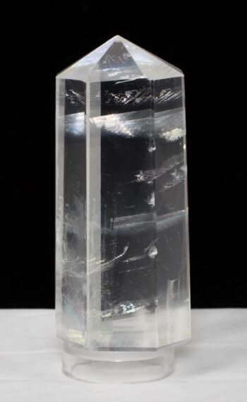 Optical White Calcite Obelisk, Iceland Spar, Rainbow Crystal, Clear Crystal, Natural Stone, Amplifier, Cleansers, Healing, Energy, Double Refraction.