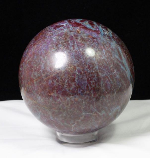 Ruby, Kyanite, Ruby Kyanite Sphere, Natural Stone, Amplifier, Cleansers, Healing, Energy, Rock, Mineral, Crystal, Earth, Collectible, Sphere, Round, Handmade, Gemstone.