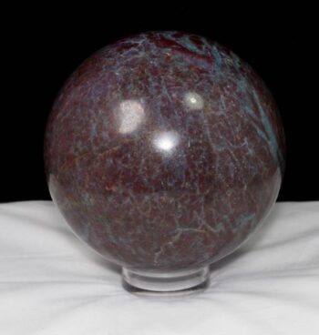 Natural Stone, Amplifier, Cleansers, Healing, Energy, rock, mineral, crystal, earth, collectible, sphere, round, handmade, gemstone, ruby, kyanite, ruby kyanite sphere