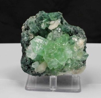 Green Apophyllite and Stilbite, Apophyllite, Stilbite, Green Apophyllite, Chalcedony, Quartz, Matrix, Zeolite, Minerals, Natural Stone, Rock, Natural Crystal, Collectible, India, Earth