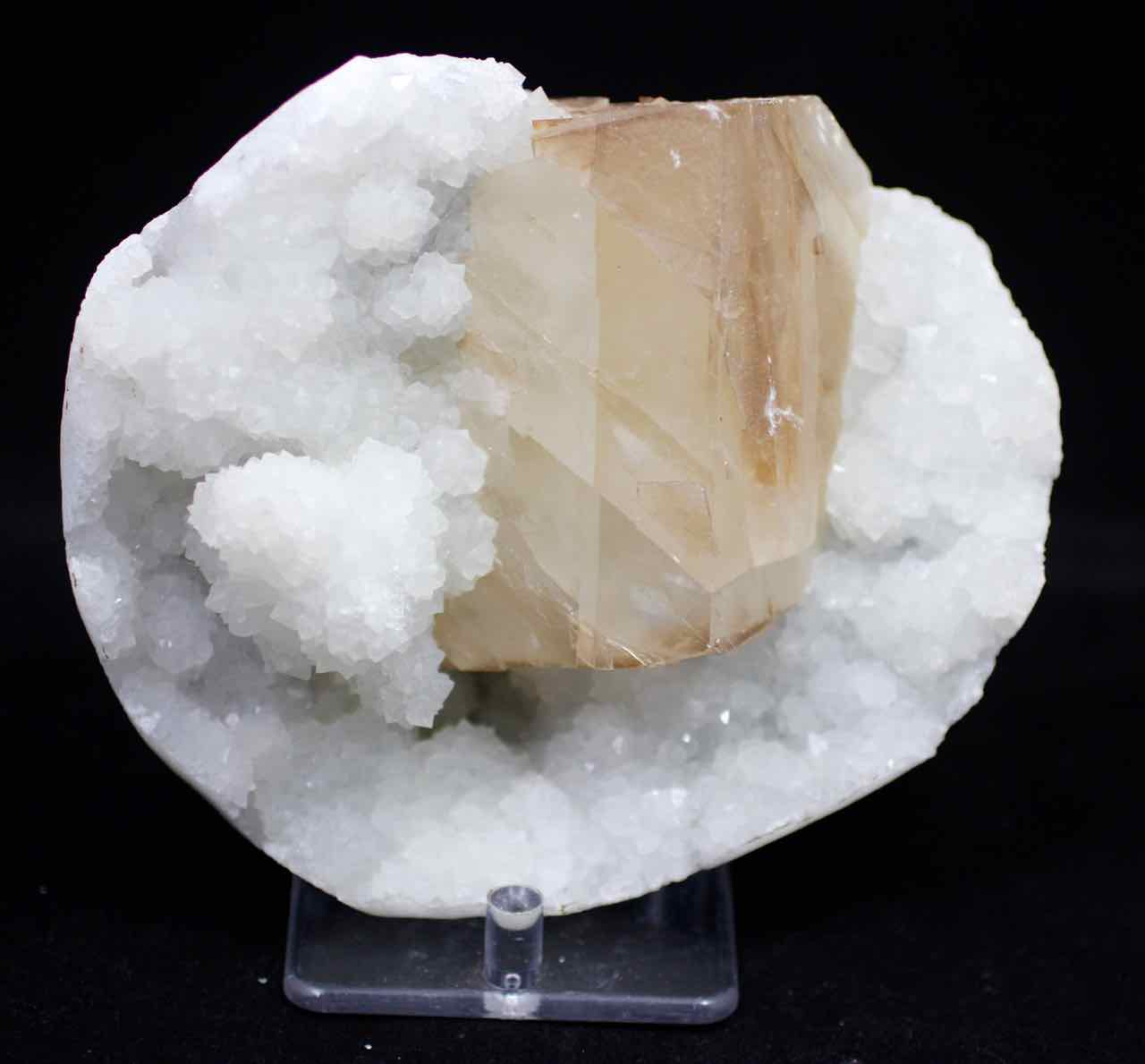 Calcite, Yellow Calcite, Chalcedony, Quartz, Matrix, Zeolite, Minerals, Natural Stone, Rock, Natural Crystal, Collectible, India, Earth