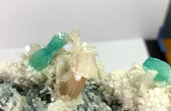 Green Apophyllite and stilbite