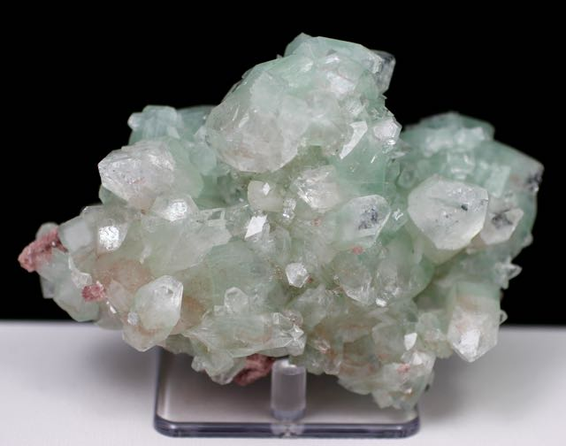 Green Apophyllite, Red Chalcedony, Apophyllite, Quartz, Matrix, Zeolite, Minerals, Natural Stone, Rock, Natural Collectible, India, Earth