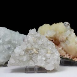 Apophyllite and Stilbite, Apophyllite, Stilbite, Chalcedony, Quartz, Matrix, Zeolite, Minerals, Natural Stone, Rock, Natural Crystal, Collectible, India, Earth