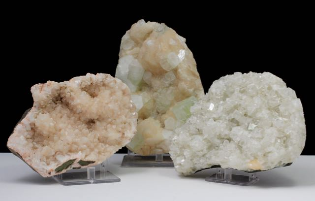 Green Apophyllite and Stilbite, Green Apophyllite, Stilbite, Heulandite, Apophyllite, Chalcedony, Quartz, Matrix, Zeolite, Minerals, Natural Stone, Rock, Natural Crystal, Collectible, India, Earth