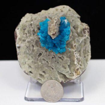 Cavansite, Chalcedony, Quartz, Matrix, Zeolite, Minerals, Natural Stone, Rock, Natural Crystal, Collectible, India, Earth