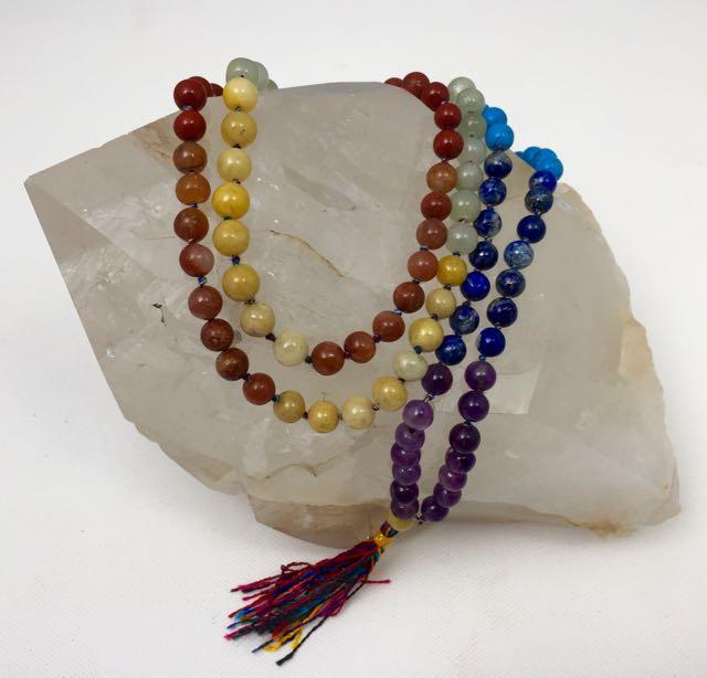 Seven Chakra Jap Mala Necklace