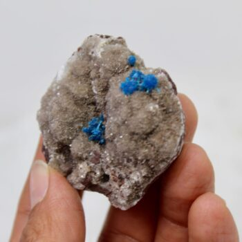 Cavansite and Stilbite, Chalcedony, Quartz, Matrix, Zeolite, Minerals, Natural Stone, Rock, Natural Crystal, Collectible, India, Earth