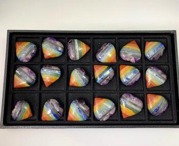 7 chakra hearts