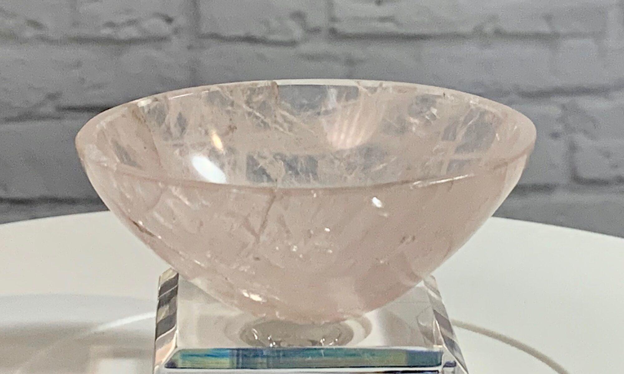 Rose Quartz Crystal Bowl