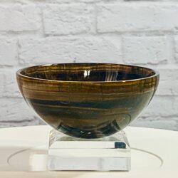 Tigers Eye Crystal Bowl