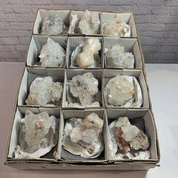 12pc clear apophyllite specimens