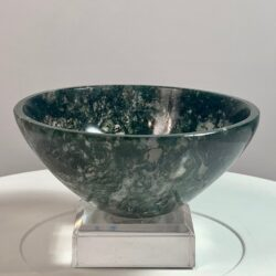 Moss Agate Crystal Bowl