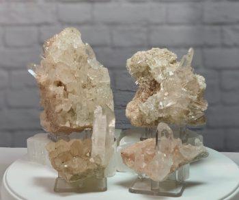 4 piece Pink Himalayan Quartz
