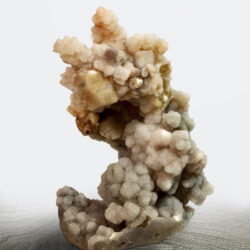 Calcite on Chalcedony