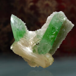 Green Apophyllite with Stilbite thumbnail