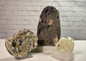 Heulandite Cavansite Calcite