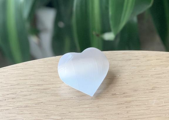 Selenite Small Heart