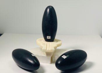 "Black Shiva Lingam 6"""