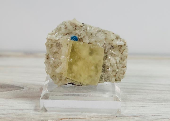 Calcite with Cavansite