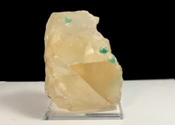 Calcite with Green Apophyllite